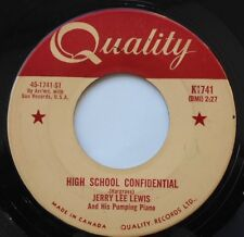 JERRY LEE LEWIS High School Confidential / Fools Like me CANADA 1959 QUALITY 45
