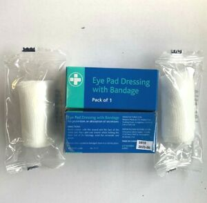 x2 boxed eye pad dressing with bandage for workplace or home