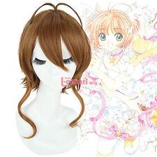 USA Ship Kinomoto Sakura Anime Short Brown Cosplay Party Hair Wig ML151
