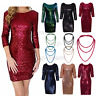 Women Sequin Flapper Wedding Formal Evening Party Bodycon Mini Dress Cocktail