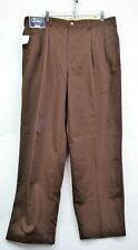 Polo Ralph Lauren Mens Andrew Brown Pleated 38 x 30 Classic Fit Pants NEW (C8)