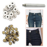 17mm Replacement Hammer on Jeans Waist Buttons with Hand Fixing Tool for Jackets