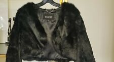 GUESS Genuine Rabbit Fur Bolero shrug