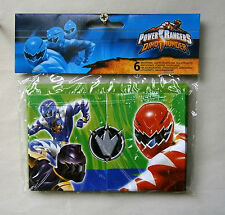 Power Ranger Party invites, 2 packs of six with envelopes