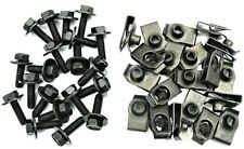 Body Bolts & U-nut Clips- M6-1.0 x 20mm Long- 10mm Hex- 40 pcs (20ea)- J#150F