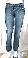 Jeans Donna Pantaloni MET Italy CA99 Gamba Dritta Blu Tg 32 33 veste grande