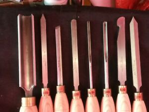 Robert Sorby 7piece Woodturning Chisel Set Vgc