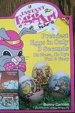 VINTAGE 1981 Instant Egg Art by Sun Hill~ EASTER -Bunny Cartoon