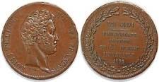 Louis-Philippe Module  5 frs Essai de la Presse Monétaire Au Roi Thonnelier 1833