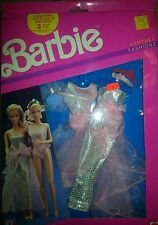 NEW BARBIE DOLL 1989 FANTASY FASHIONS Clothes. 2 complete sets in box