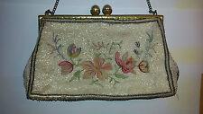 Beaded purse Vintage French handmade