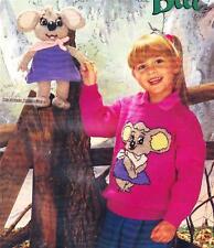 NUTSY koala 28cm & jumper / 8ply or DK - COPY toy knitting pattern