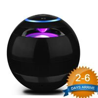 Portable LED Bluetooth Speakers Wireless Bass Speaker With TF USB FM Radio hs1