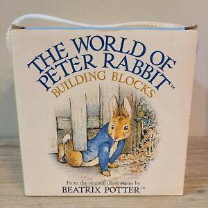 Vtg Beatrix Potter The World Of Peter Rabbit Building Blocks Learning Toy Gift