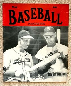 May 1949 Baseball Magazine Cardinals' Stan Musial  Red Sox' Ted Williams Cover
