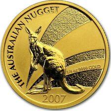 More details for 2007 australian gold kangaroo nugget 2007 - 1/4 oz fine gold coin