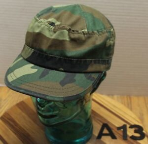 WOMENS WOODLANDS CAMO CADET/MILITARY STYLE HAT ADJUSTABLE VGC A13
