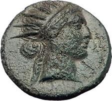 RHODES Island off Caria 190BC RARE R2 Authentic Ancient Greek Coin HELIOS i64814