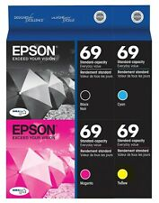 GENUINE Epson 69 Ink Cartridge 4 Pack for Stylus CX7450 NX105 NX110 NX115 NX215