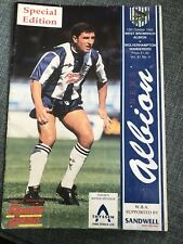 WEST BROMWICH ALBION V WOLVERHAMPTON WANDERERS 1989/90 DIVISION TWO PROGRAMME