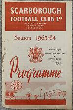More details for scarborough v sutton town - midland league 1963/64