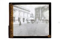 Italia Roma Place Capitol c1900 Foto Placca Da Proiezione Lanterna Magica
