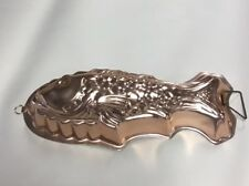 Fish Copper Metal Tin Cake Pan Wall Decor Jello Mold Candle Mold Soap Mold