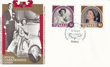 (29337) Tuvalu FDC Queen 40th Wedding Anniversary 1987