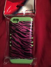 For iPhone 4s/4 Tiger Pattern Back Plate Protector Cover Case  (Green Sides).A5