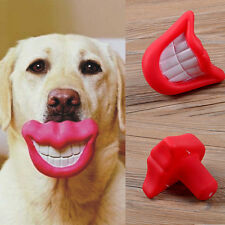 Funny Smile Dog & Puppy Treat Fetch Ball Toy Interesting Gift Audible Lip New