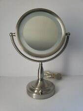 ZADRO PRODUCTS MAGNIFYING LIGHTED MIRROR MODEL # RDV68 SATIN NICKEL
