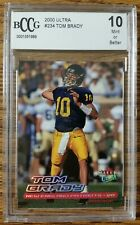 TOM BRADY 2000 FLEER ULTRA ROOKIE #234 BECKETT GRADED 10!!! MINT!!! GOAT!!!