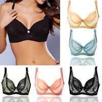 Women Bra Ultra-thin Lace Transparent Lingerie Push Up Bra 32-44 B C D Underwear
