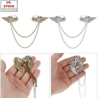 USA_Angel Wings Collar Pin Brooch Sweater Shawl Clips Holder Fashion Decoration