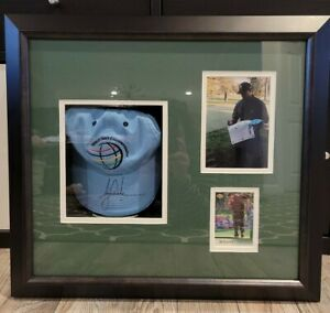 Authentic Tiger Woods Autographed Hat & Rookie Card Display JSA LOA Stunning!!