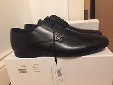 Versace Collection Black Leather Oxford Formal Shoes UK 12/EU 46