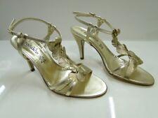 Zodiaco Womens Gold Slingback Sandal Heel Shoes - UK 6 / EU 39 - (9395P)