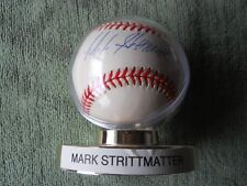 MARK STRITTMATTER AUTOGRAPHED SIGNED BASEBALL Colorado Rockies