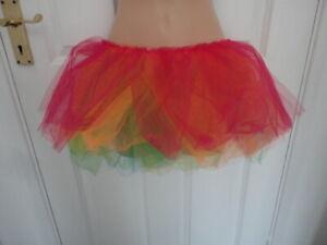 5 layer multi coloured net tutu. Approx size 16-18