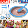 Non-electronic Instant Ice Cream Maker Ice Roll Pan Machine Frozen Yogurt+Mold