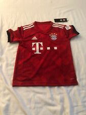NEW ADIDAS FC BAYERN MUNCHEN SOCCER JERSEY YOUTH NWT Size S Red