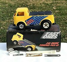 VINTAGE TESTORS SUPER PICK-UP .049 GAS POWERED TETHER TRUCK WITH BOX