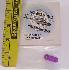 FUTABA R/C HELICOPTER AIRPLANE HOBBY PART #1236 ALM HALF SERVO ARM PURPLE