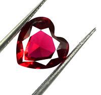 Burma Ruby Heart Shape Loose Gemstone 2.45 Ct/8mm 100% Natural AGSL Certified