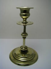 POLISH BRASS CANDLESTICK CANDLE HOLDER by Norblin Warsaw Poland ca1880s Judaica