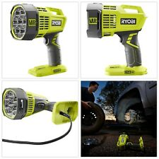 Ryobi LED Spotlight Work Light Flashlight 18V Cordless Dual Powered (FREE CORD)