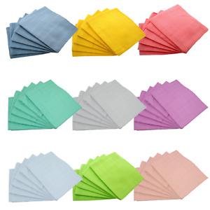 MuslinZ 6PK Baby Muslin Squares Cloths 70cm 100% Pure Soft Cotton Plain Colours