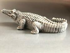Crocodile statuette marble chips realistic figurine from Russia