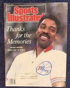 5.4.87 JULIUS (DR. J) ERVING Sports Illustrates 76ers BO JACKSON - Pete Webber