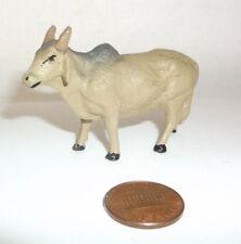 antique vtg Toy ZEBU Ox Cattle Figure Elastolin? Lineol? Composition? Germany 1